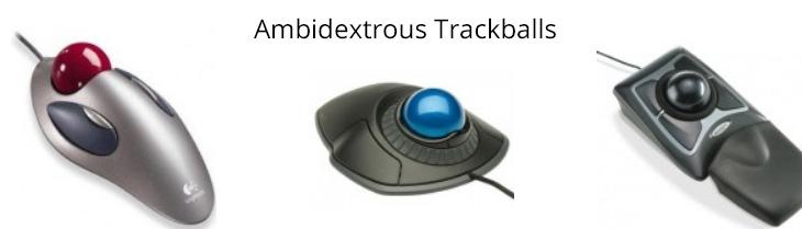 Ambidextrous Trackballs