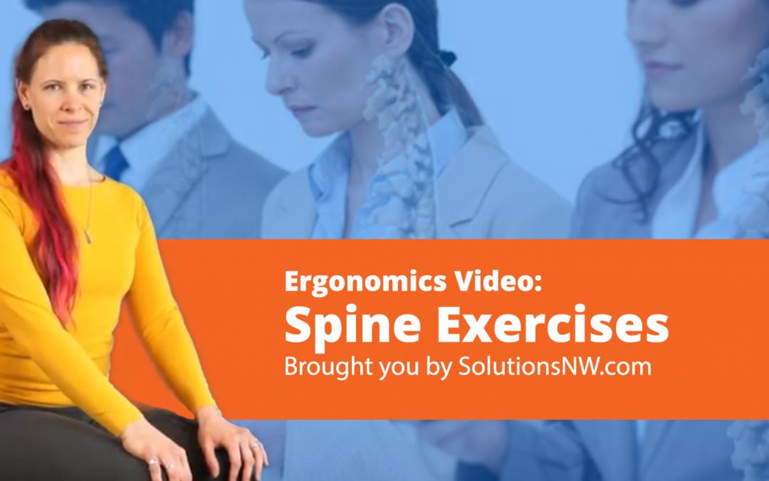 Video: Ergonomics Exercises for the Spine.