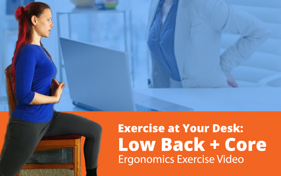 Video: Low Back and Core Exercises you can do at Your Work Desk