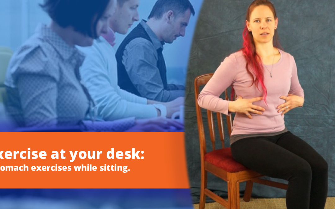 Exercise at Your Desk: Stomach (abdominal) exercises you can do from your office chair.