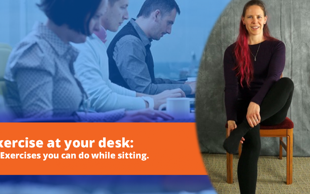 12 Exercises you can do while sitting at work